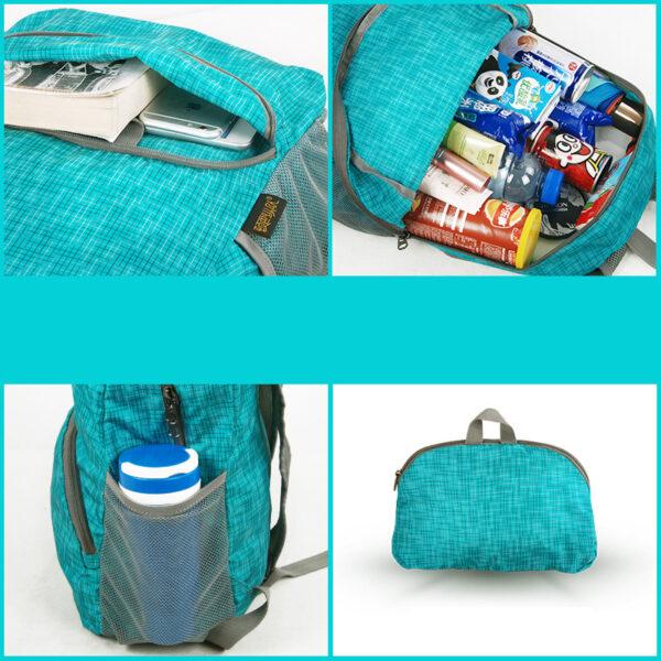 Foldable Children Travel School Shoulder Bag Backpack MFB13_7