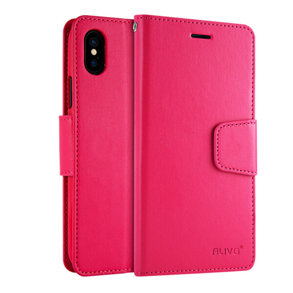 Leather iPhone X Wallet Case Cover With Card Slot IPS110