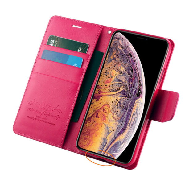 Leather iPhone XS XR Max Wallet Case Cover With Card Slot IPS110_6