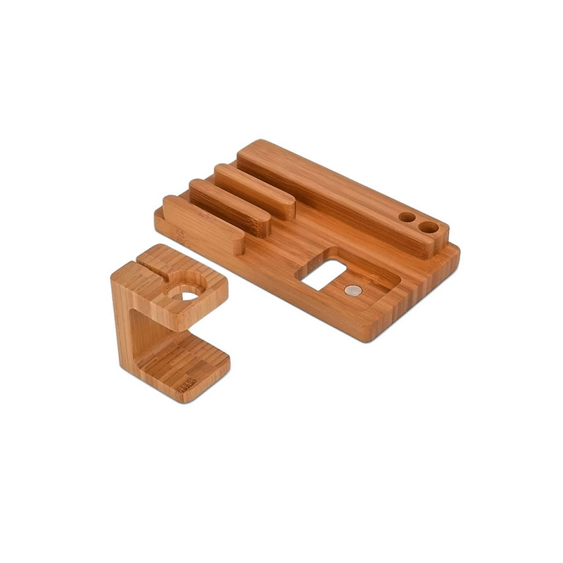Wood Stand For Apple Watch iPhone iPad Charging Base IPS10_7