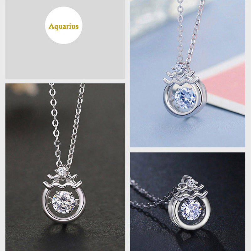 Twelve Constellations 100% Silver Necklace For Girlfriend Wife NLC15_3