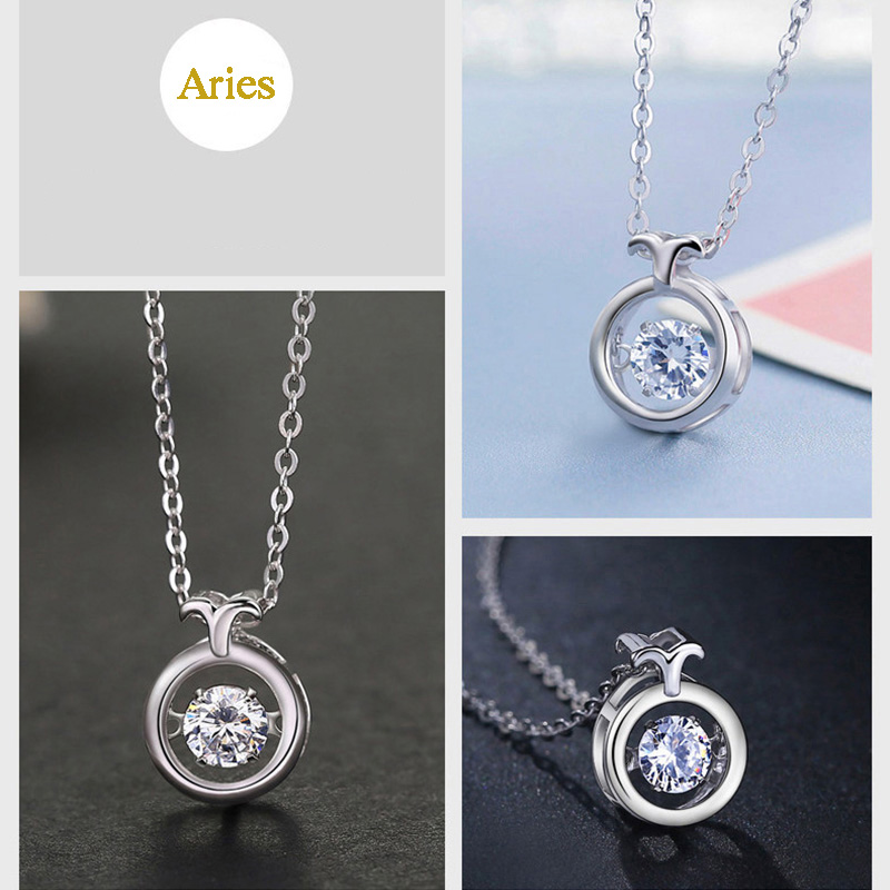 Twelve Constellations 100% Silver Necklace For Girlfriend Wife NLC15_5