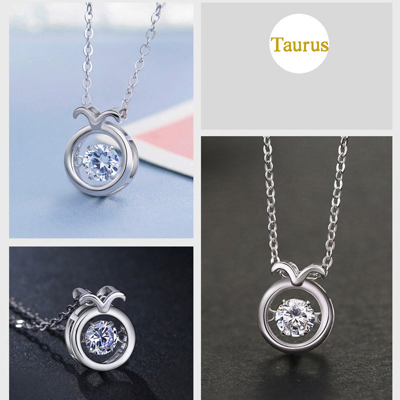 Twelve Constellations 100% Silver Necklace For Girlfriend Wife NLC15_6