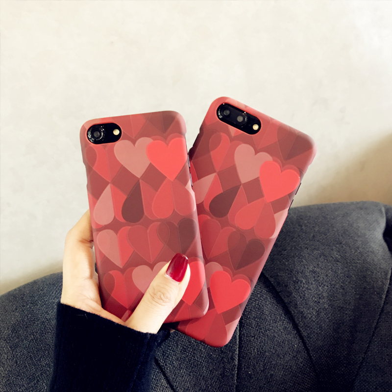 Love Pattern Case Cover For iPhone X 8 7 6 Plus IPS111_3