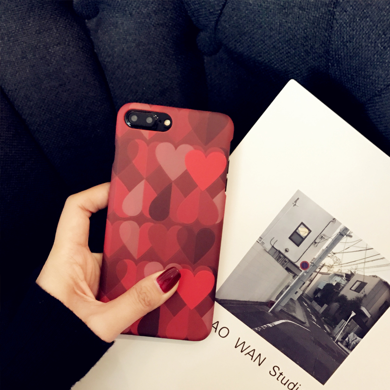 Love Pattern Case Cover For iPhone X 8 7 6 Plus IPS111_5