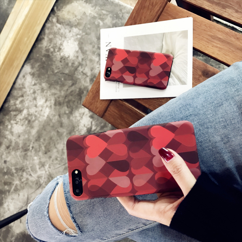 Love Pattern Case Cover For iPhone X 8 7 6 Plus IPS111_6