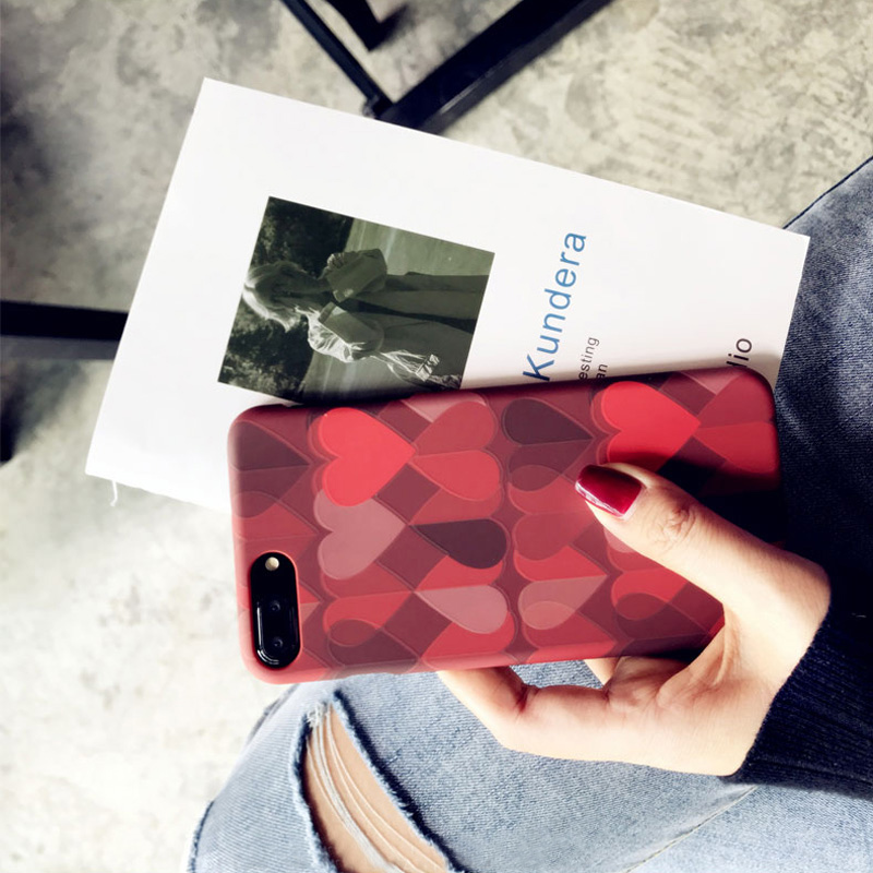 Love Pattern Case Cover For iPhone X 8 7 6 Plus IPS111_7