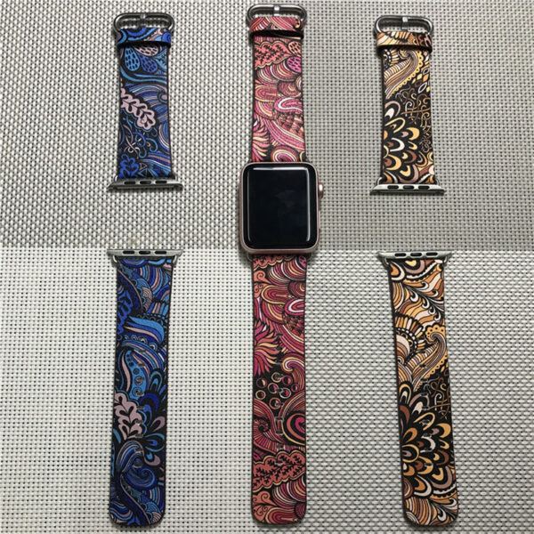 Perfect Totem Pattern Leather Apple Watch Series 1 2 3 4 Band AWB09_10