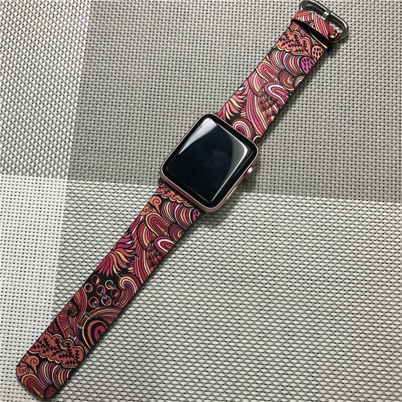 Perfect Totem Pattern Leather Apple Watch Series 1 2 3 4 Band AWB09_3