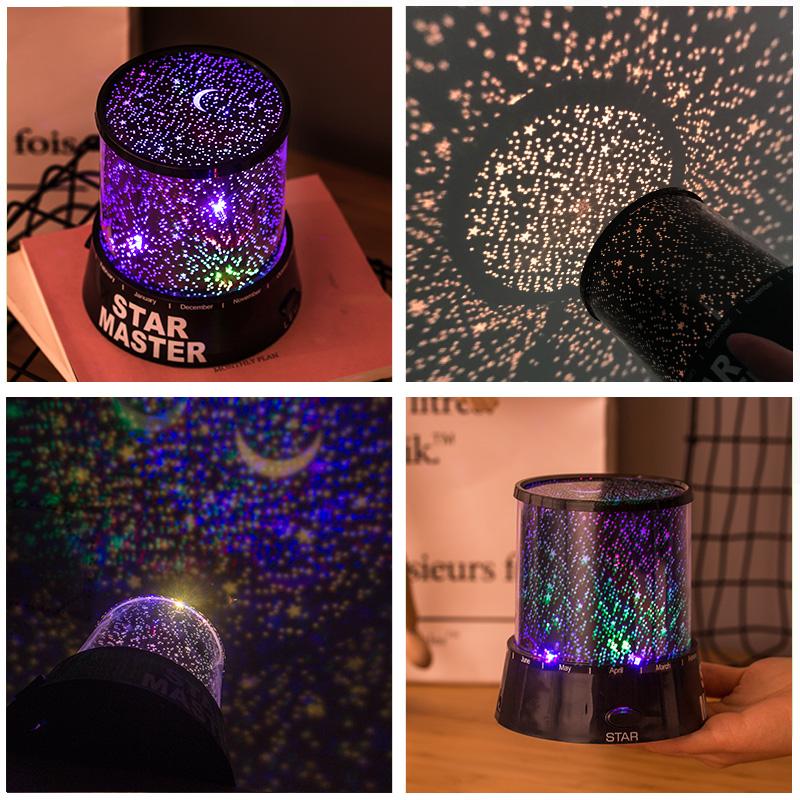 Romantic Starlight Projector Bedroom Sleep USB Nightlight USL03_3