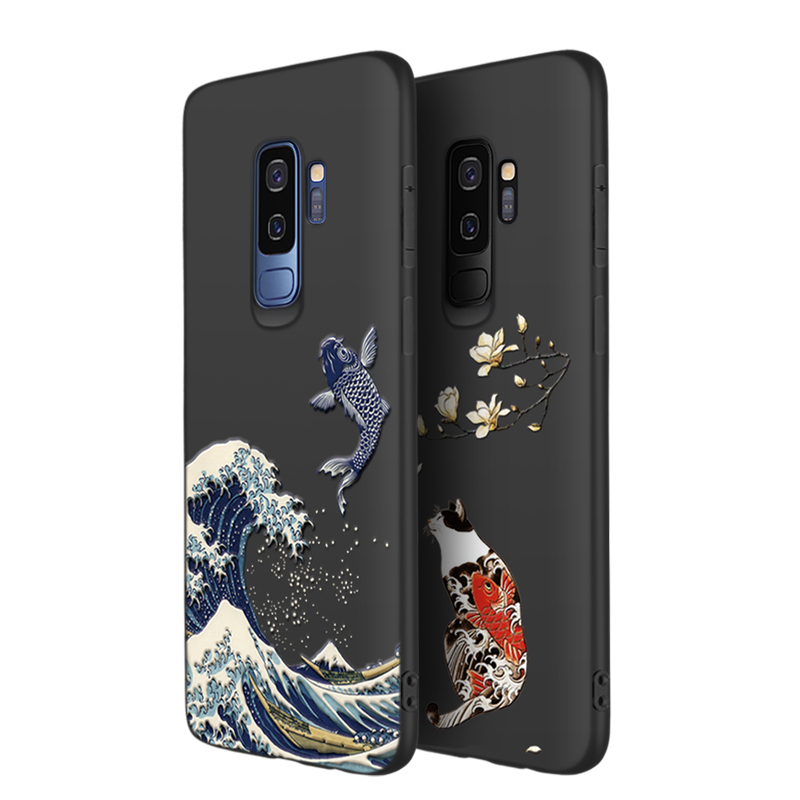 3D Relief Soft Case Cover For Samsung S9 And Plus SG905_4