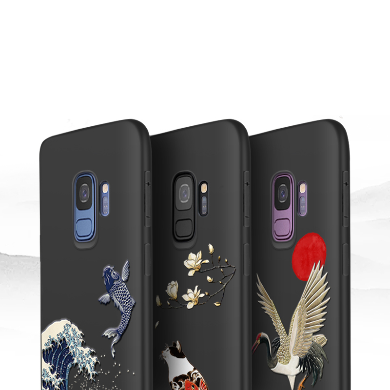 3D Relief Soft Case Cover For Samsung S9 And Plus SG905_5