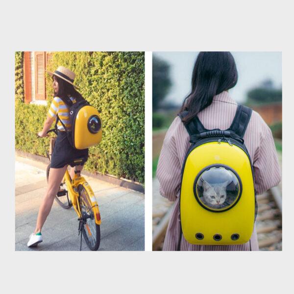 Cat Dog Pet Carrying Shoulder Bag Backpack For Traveling MFB17_4
