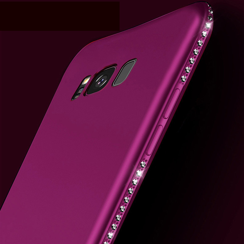 Creative Silicone Diamond Samsung S9 S8 Plus Case With Stand SG906_7