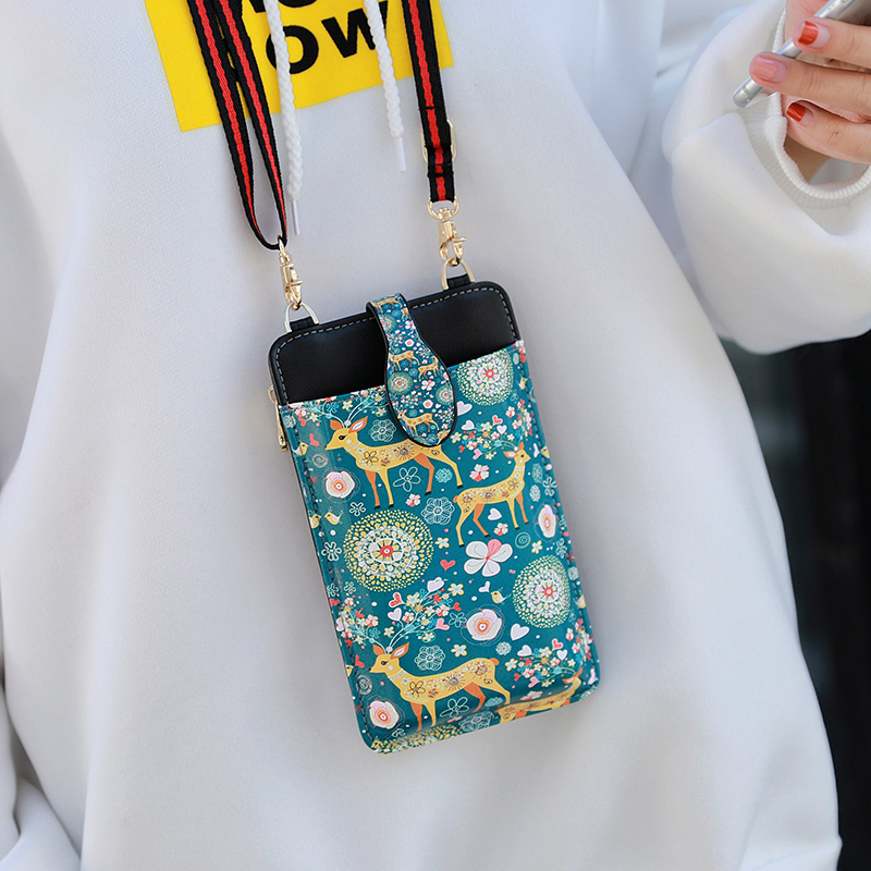 Cute Cartoon Neck Hanging Phone Wallet Bag PW06_3