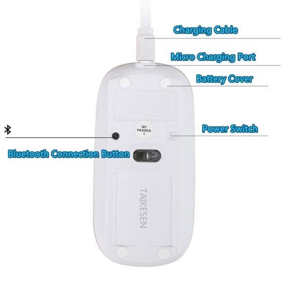 Comfortable Laptop Notebook Wireless Mouse Bluetooth Optical Mouse PMS01_6