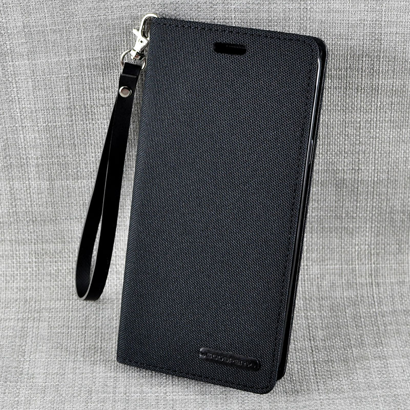 Leather Clamshell Case Cover For Samsung S9 And Plus With Lanyard SG907