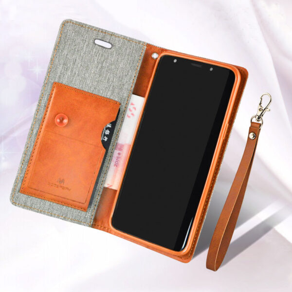 Leather Clamshell Case Cover For Samsung S9 And Plus With Lanyard SG907_5