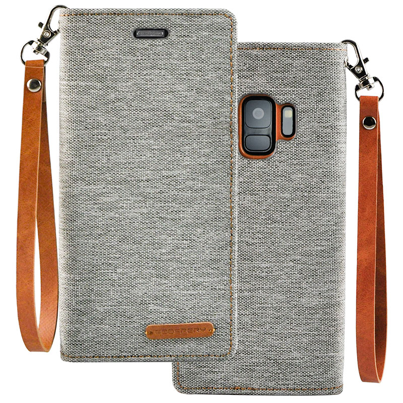 Leather Clamshell Case Cover For Samsung S9 And Plus With Lanyard SG907_6