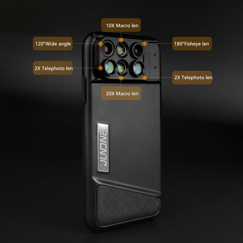 6 Functional Lens In One Case Cover For iPhone X XS PHE09_5