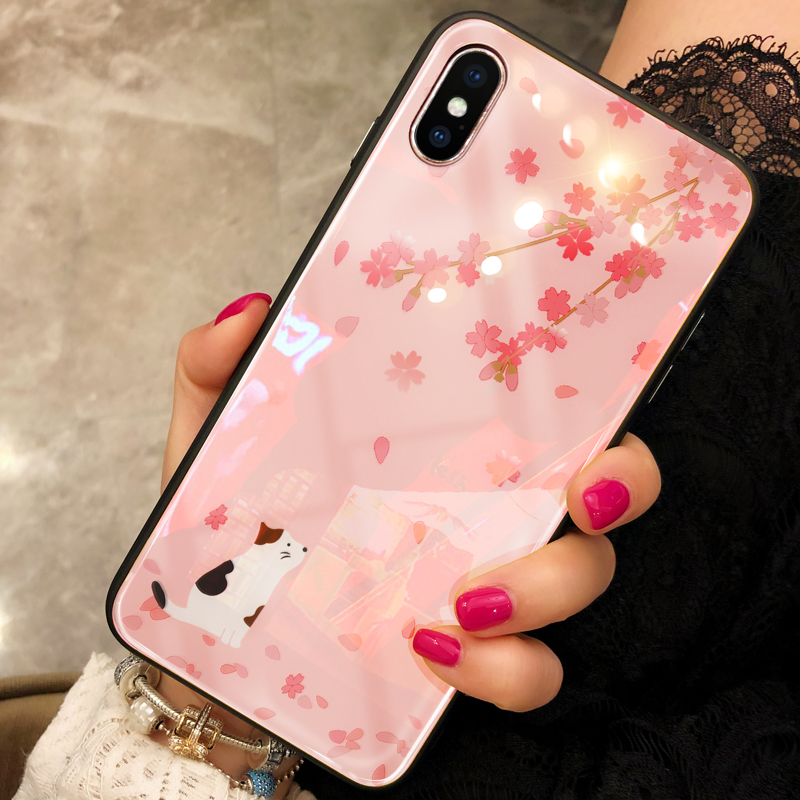 Pink Painted iPhone X XS Case Cover With Lanyard IPS113
