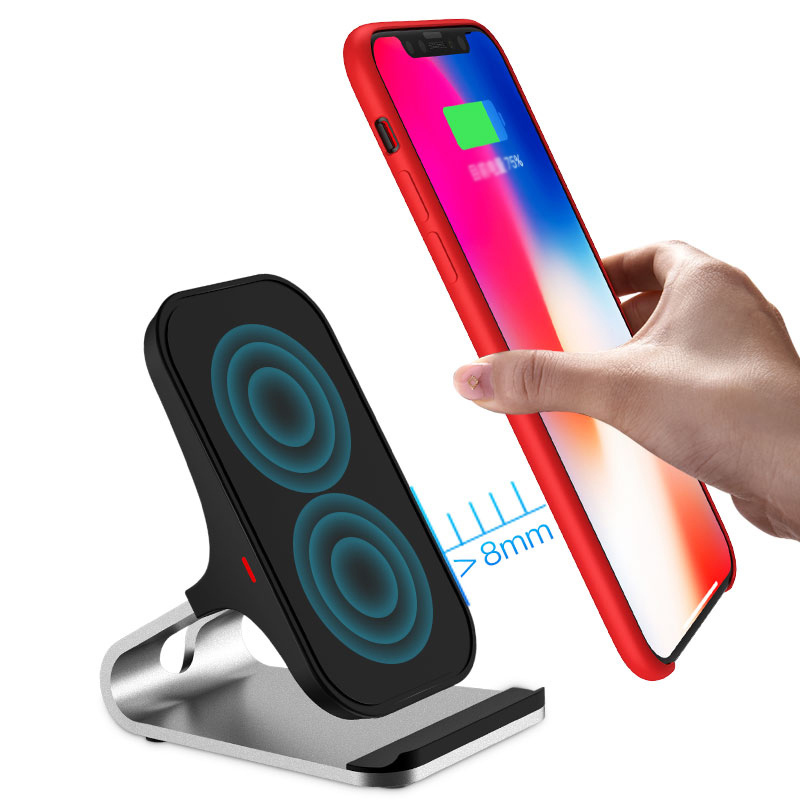 Wireless Base Charger For iPhone X 8 Plus Samsung S9 8 7 6 Note ICD08_3