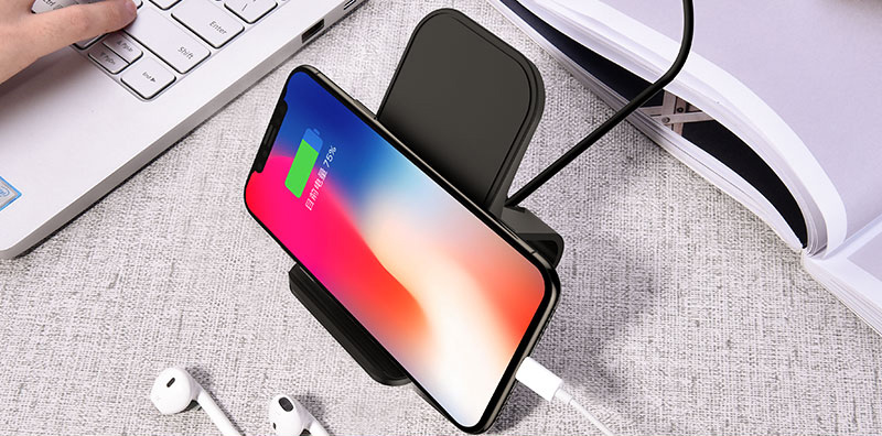 Wireless Base Charger For iPhone X 8 Plus Samsung S9 8 7 6 Note ICD08_4