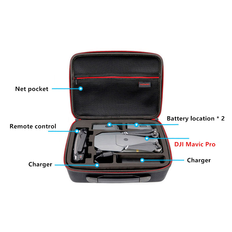 DJI One Shoulder Backpack Bag For Mavic Air Pro Suitcase MFB20_3