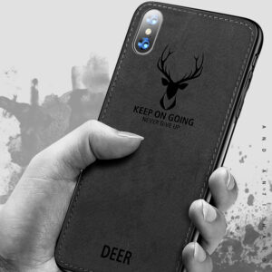 Deer Pattern Anti-fall Silicone Case For iPhone XS Max X IPXSM03