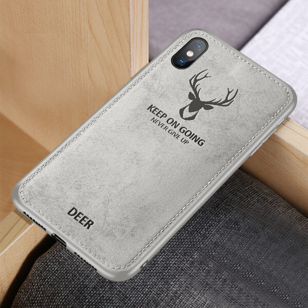 Deer Pattern Anti-fall Silicone Case For iPhone XS Max X IPXSM03_2