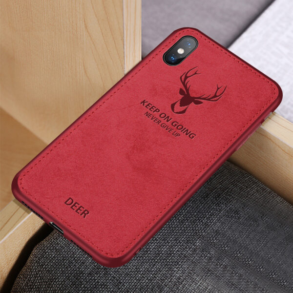 Deer Pattern Anti-fall Silicone Case For iPhone XS Max X IPXSM03_4