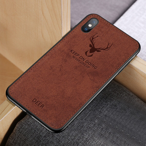 Deer Pattern Anti-fall Silicone Case For iPhone XS Max X IPXSM03_5