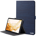 Leather Samsung Galaxy Tab S4 Cover With Pen Cap And Card Slot SGTC09