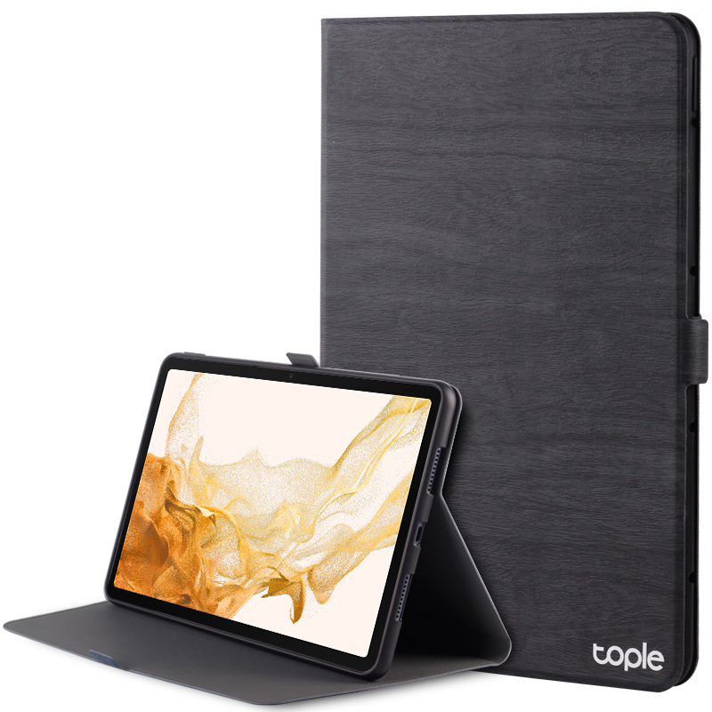 Leather Samsung Galaxy Tab S4 Cover With Pen Cap And Card Slot SGTC09_2