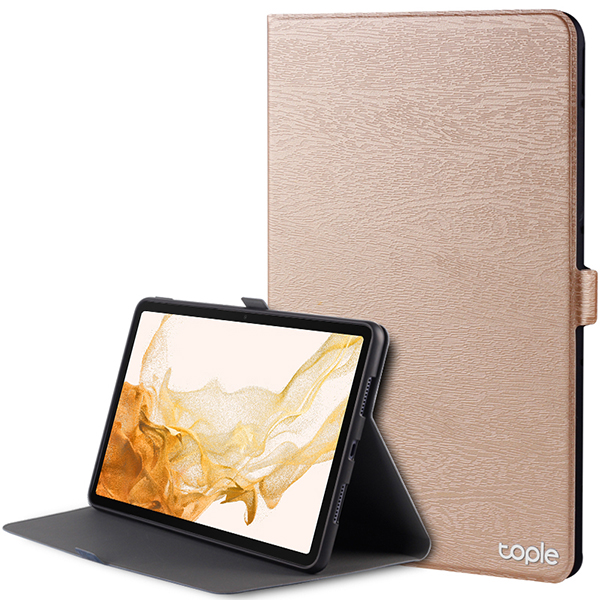Leather Samsung Galaxy Tab S4 Cover With Pen Cap And Card Slot SGTC09_3