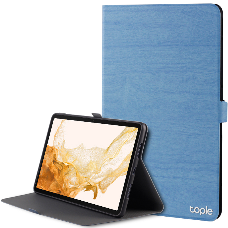 Leather Samsung Galaxy Tab S4 Cover With Pen Cap And Card Slot SGTC09_4