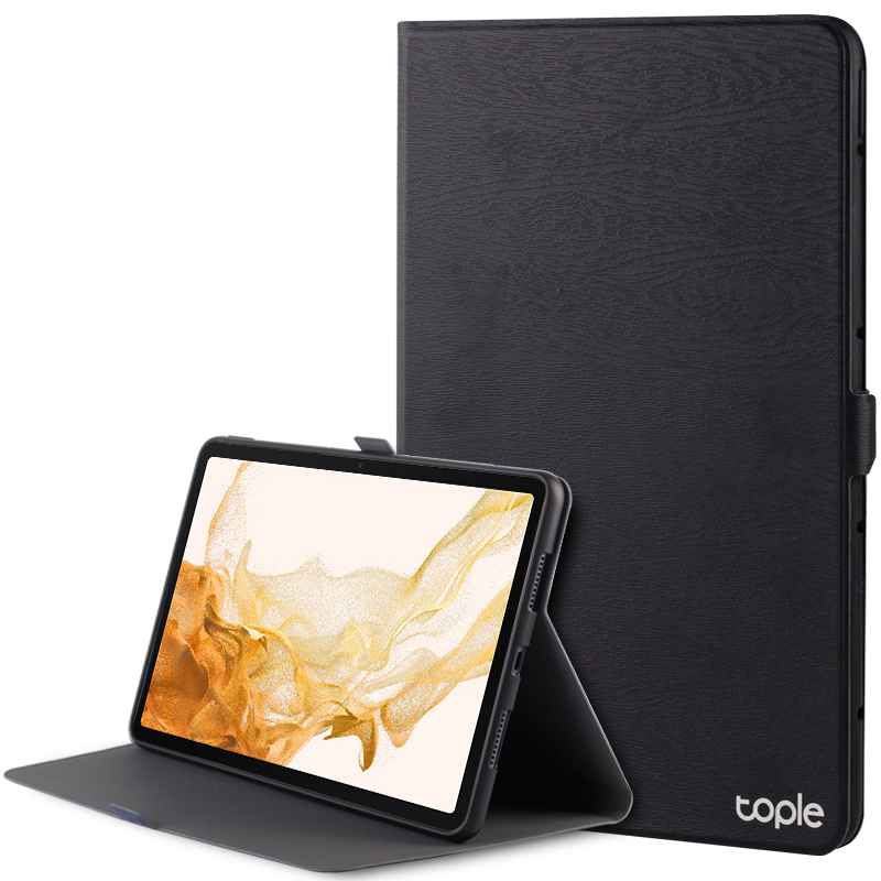 Leather Samsung Galaxy Tab S4 Cover With Pen Cap And Card Slot SGTC09_5
