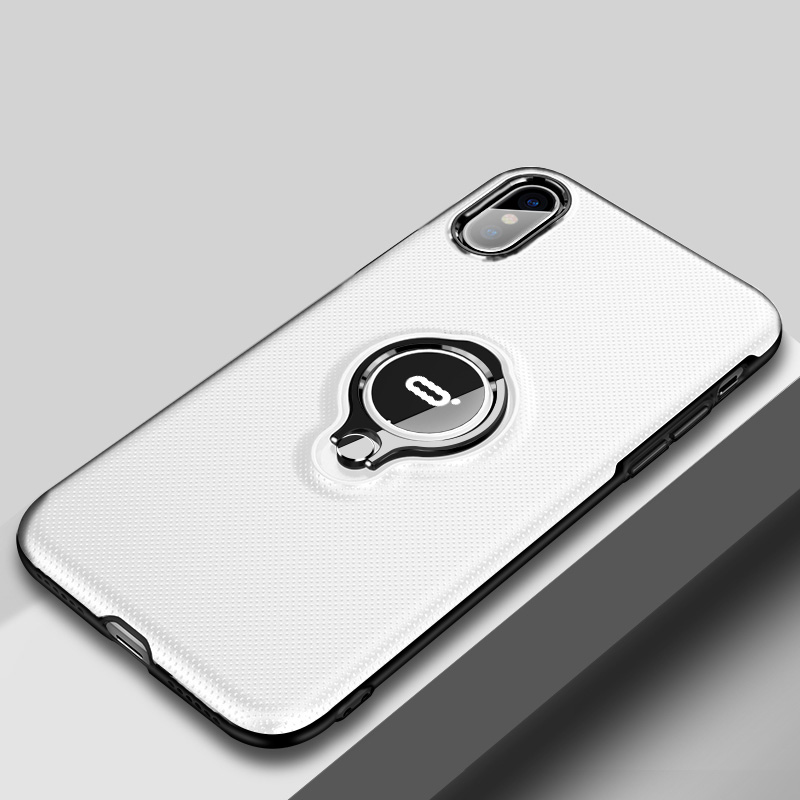 new concept fb480 1b0d5 Protective Silicone iPhone X XS Max XR Case With Ring Bracket IPXSM02