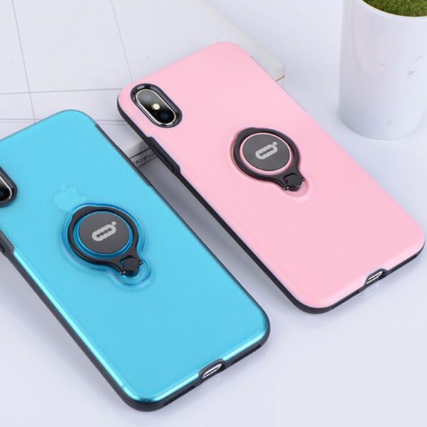 Protective Silicone iPhone X XS Max XR Case With Ring Bracket IPXSM02_10