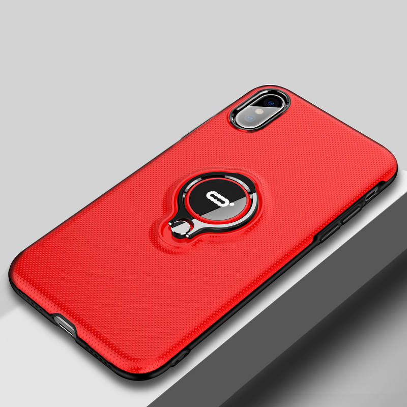 Protective Silicone iPhone X XS Max XR Case With Ring Bracket IPXSM02_2