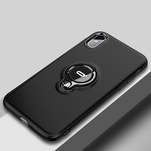 Protective Silicone iPhone X XS Max XR Case With Ring Bracket IPXSM02_3