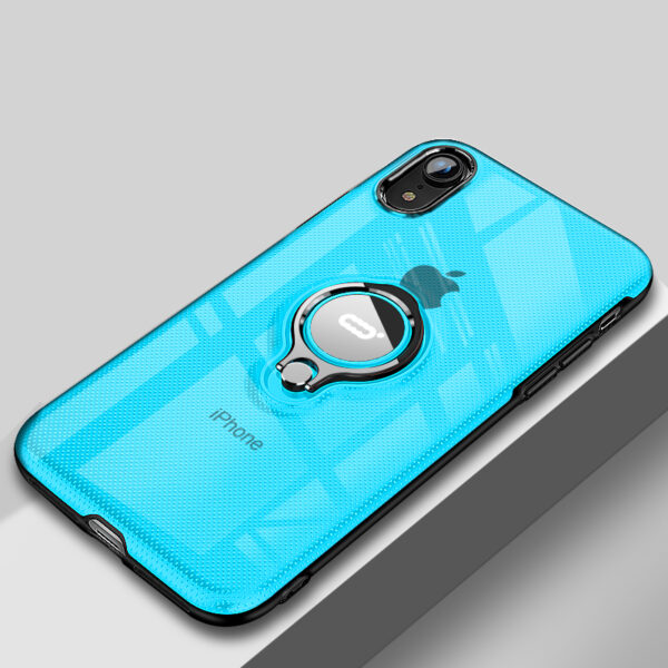 Protective Silicone iPhone X XS Max XR Case With Ring Bracket IPXSM02_4