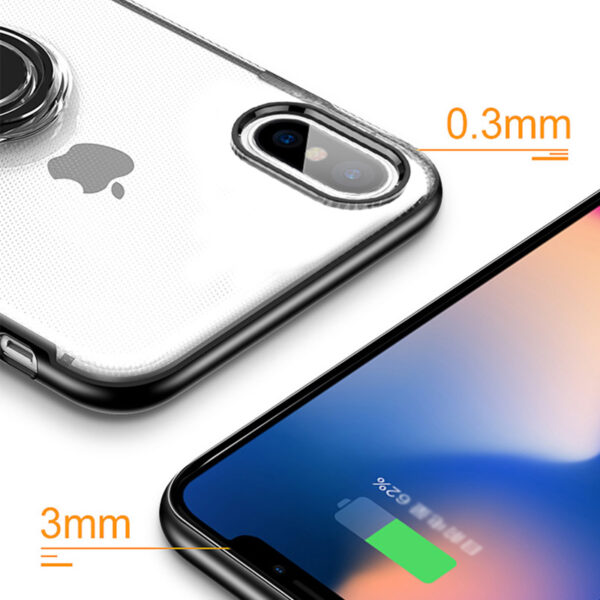 Protective Silicone iPhone X XS Max XR Case With Ring Bracket IPXSM02_5