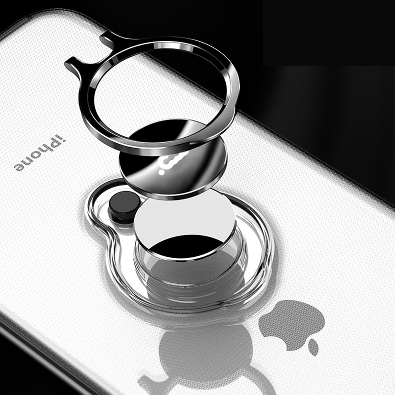 Protective Silicone iPhone X XS Max XR Case With Ring Bracket IPXSM02_8