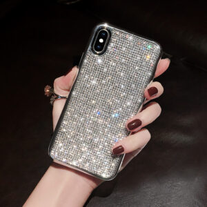 Glitter Diamond Silicone Case For iPhone 11 X XR XS Max IPXSM06