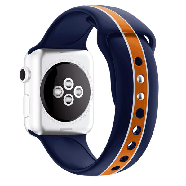 Silicone 38 40 42 44 MM Band Strap For Apple Watch AWB11_4