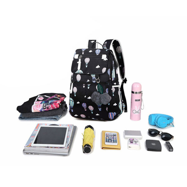 Fashion School Bag Backpack For Girl With Headset And Charging Interface MFB22_7