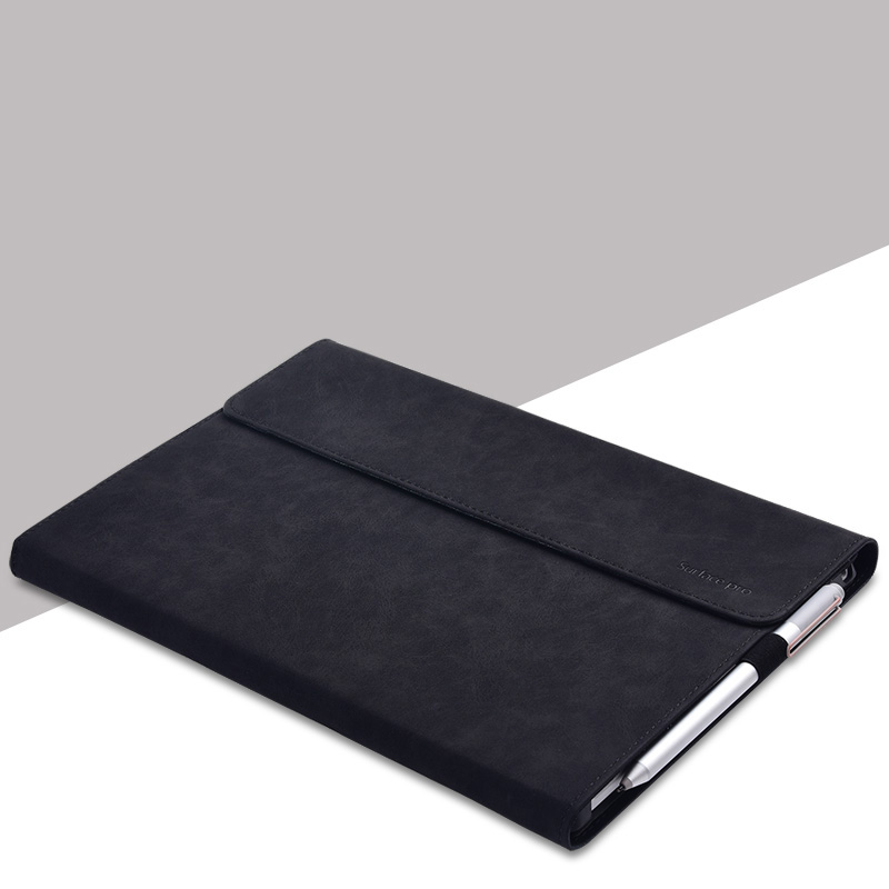 Protective Leather Surface Pro 6 5 4 12.3 Inch Cover With Pen Cap SPC13_3