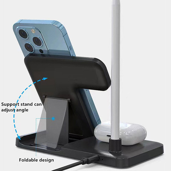 Wireless Charger For Apple Watch iPhone AirPods ICD09_5