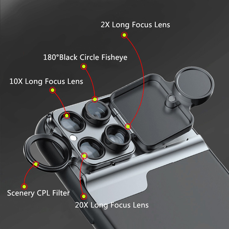 6 Functional Lens In One Case Cover For iPhone XS XR Max PHE10_7